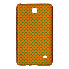 Heart-Shaped Shamrock Green on Orange St.Patrick?¯s Day Clover Samsung Galaxy Tab 4 (7 ) Hardshell Case