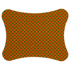 Heart Shaped Shamrock Green On Orange St Patrick?¯s Day Clover Jigsaw Puzzle Photo Stand (bow)