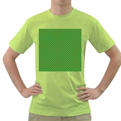 Orange Heart-Shaped Shamrocks on Irish Green St.Patrick s Day Green T-Shirt