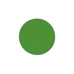 Orange Heart-Shaped Shamrocks on Irish Green St.Patrick s Day Golf Ball Marker (10 pack)