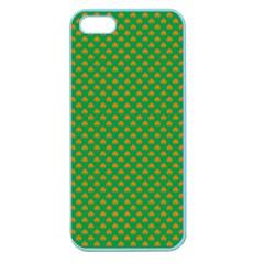 Orange Heart-Shaped Shamrocks on Irish Green St.Patrick s Day Apple Seamless iPhone 5 Case (Color)