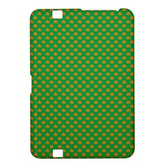Orange Heart-Shaped Shamrocks on Irish Green St.Patrick s Day Kindle Fire HD 8.9