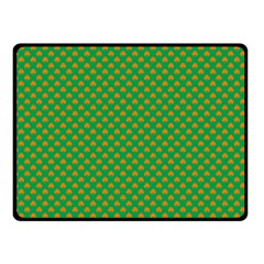 Orange Heart-Shaped Shamrocks on Irish Green St.Patrick s Day Double Sided Fleece Blanket (Small)
