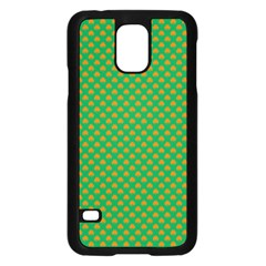 Orange Heart-Shaped Shamrocks on Irish Green St.Patrick s Day Samsung Galaxy S5 Case (Black)