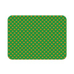 Orange Heart-Shaped Shamrocks on Irish Green St.Patrick s Day Double Sided Flano Blanket (Mini)