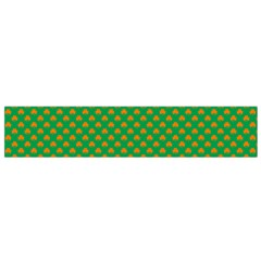 Orange Heart-Shaped Shamrocks on Irish Green St.Patrick s Day Flano Scarf (Small)