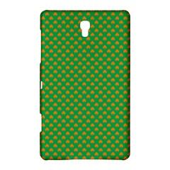 Orange Heart-Shaped Shamrocks on Irish Green St.Patrick s Day Samsung Galaxy Tab S (8.4 ) Hardshell Case