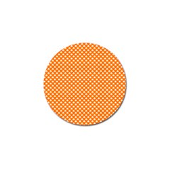 White Heart-Shaped Clover on Orange St. Patrick s Day Golf Ball Marker