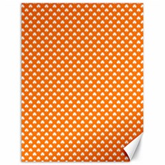 White Heart-Shaped Clover on Orange St. Patrick s Day Canvas 18  x 24