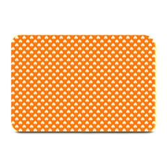 White Heart-Shaped Clover on Orange St. Patrick s Day Plate Mats