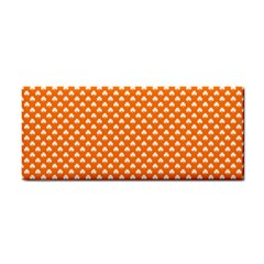 White Heart-Shaped Clover on Orange St. Patrick s Day Cosmetic Storage Cases