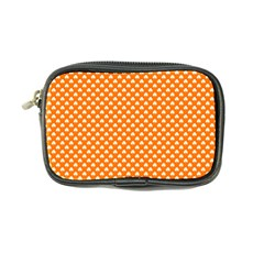 White Heart-Shaped Clover on Orange St. Patrick s Day Coin Purse
