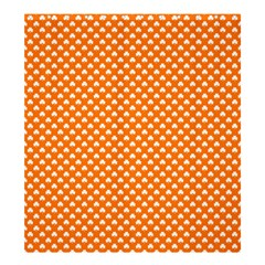 White Heart-Shaped Clover on Orange St. Patrick s Day Shower Curtain 66  x 72  (Large)