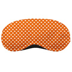 White Heart-Shaped Clover on Orange St. Patrick s Day Sleeping Masks