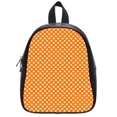 White Heart-Shaped Clover on Orange St. Patrick s Day School Bags (Small)
