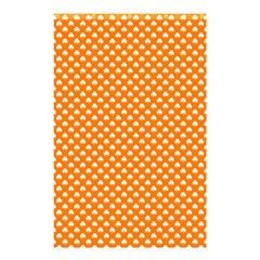 White Heart-Shaped Clover on Orange St. Patrick s Day Shower Curtain 48  x 72  (Small)