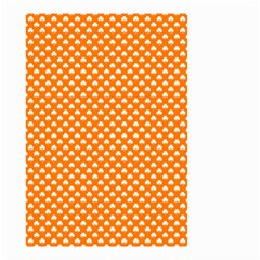 White Heart-Shaped Clover on Orange St. Patrick s Day Small Garden Flag (Two Sides)