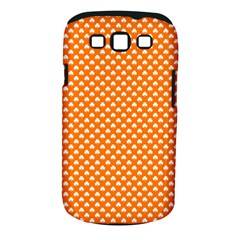 White Heart-Shaped Clover on Orange St. Patrick s Day Samsung Galaxy S III Classic Hardshell Case (PC+Silicone)
