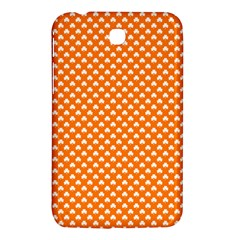 White Heart-Shaped Clover on Orange St. Patrick s Day Samsung Galaxy Tab 3 (7 ) P3200 Hardshell Case