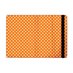 White Heart Shaped Clover On Orange St  Patrick s Day Ipad Mini 2 Flip Cases