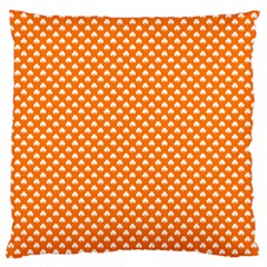 White Heart-Shaped Clover on Orange St. Patrick s Day Standard Flano Cushion Case (Two Sides)