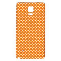 White Heart-Shaped Clover on Orange St. Patrick s Day Galaxy Note 4 Back Case
