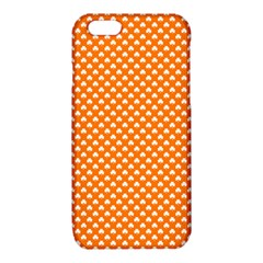 White Heart-Shaped Clover on Orange St. Patrick s Day iPhone 6/6S TPU Case
