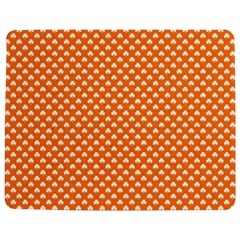 White Heart-Shaped Clover on Orange St. Patrick s Day Jigsaw Puzzle Photo Stand (Rectangular)