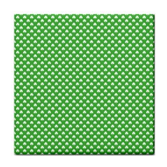 White Heart-Shaped Clover on Green St. Patrick s Day Face Towel
