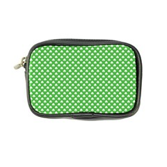 White Heart-Shaped Clover on Green St. Patrick s Day Coin Purse