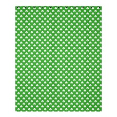 White Heart-Shaped Clover on Green St. Patrick s Day Shower Curtain 60  x 72  (Medium)