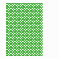 White Heart-Shaped Clover on Green St. Patrick s Day Small Garden Flag (Two Sides)