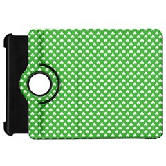 White Heart-Shaped Clover on Green St. Patrick s Day Kindle Fire HD 7