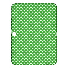 White Heart-Shaped Clover on Green St. Patrick s Day Samsung Galaxy Tab 3 (10.1 ) P5200 Hardshell Case