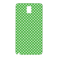 White Heart-Shaped Clover on Green St. Patrick s Day Samsung Galaxy Note 3 N9005 Hardshell Back Case