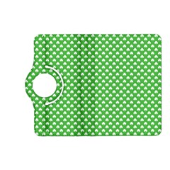 White Heart-Shaped Clover on Green St. Patrick s Day Kindle Fire HD (2013) Flip 360 Case