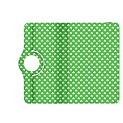 White Heart-Shaped Clover on Green St. Patrick s Day Kindle Fire HDX 8.9  Flip 360 Case