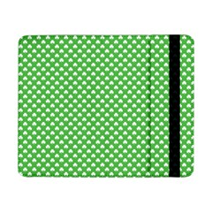 White Heart-Shaped Clover on Green St. Patrick s Day Samsung Galaxy Tab Pro 8.4  Flip Case