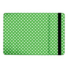 White Heart-Shaped Clover on Green St. Patrick s Day Samsung Galaxy Tab Pro 10.1  Flip Case