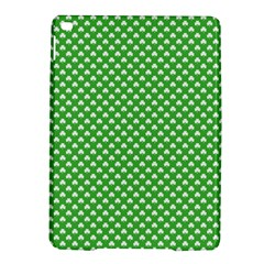 White Heart-Shaped Clover on Green St. Patrick s Day iPad Air 2 Hardshell Cases