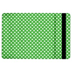 White Heart-Shaped Clover on Green St. Patrick s Day iPad Air 2 Flip