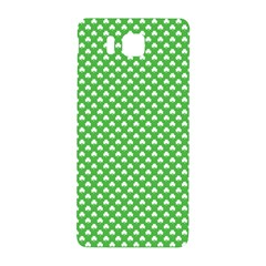 White Heart-Shaped Clover on Green St. Patrick s Day Samsung Galaxy Alpha Hardshell Back Case