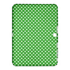 White Heart-Shaped Clover on Green St. Patrick s Day Samsung Galaxy Tab 4 (10.1 ) Hardshell Case