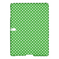 White Heart-Shaped Clover on Green St. Patrick s Day Samsung Galaxy Tab S (10.5 ) Hardshell Case