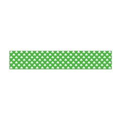 White Heart-Shaped Clover on Green St. Patrick s Day Flano Scarf (Mini)