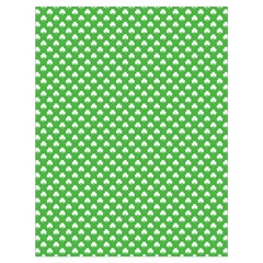 White Heart-Shaped Clover on Green St. Patrick s Day Drawstring Bag (Large)