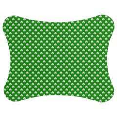 White Heart-Shaped Clover on Green St. Patrick s Day Jigsaw Puzzle Photo Stand (Bow)