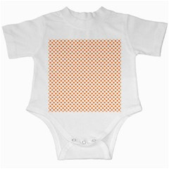 Orange Heart-Shaped Clover on White St. Patrick s Day Infant Creepers