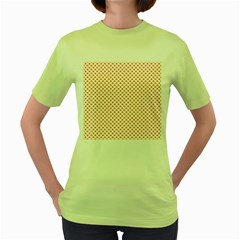 Orange Heart-Shaped Clover on White St. Patrick s Day Women s Green T-Shirt