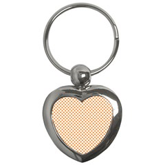 Orange Heart-Shaped Clover on White St. Patrick s Day Key Chains (Heart)